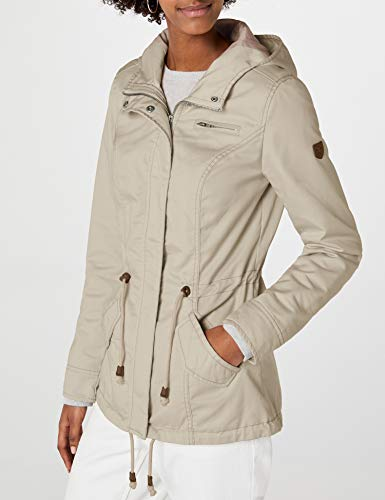 ONLY Damen Onlnew Lorca Spring Jacket CC OTW Parka, Grau (Feather Gray Feather Gray), 36 (Herstellergröße: S)