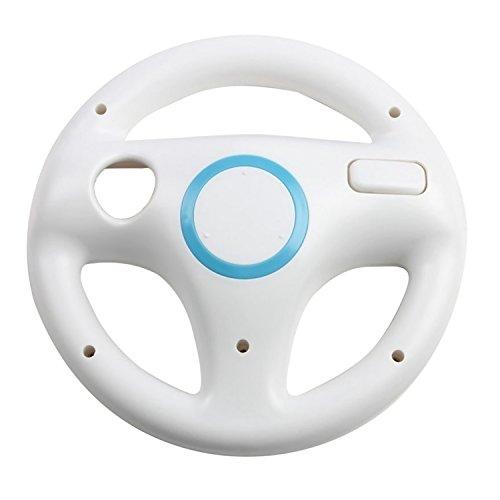 Vococal-Volante Per I Giochi Di Corse Per Nintendo Wii, Colore: Bianco