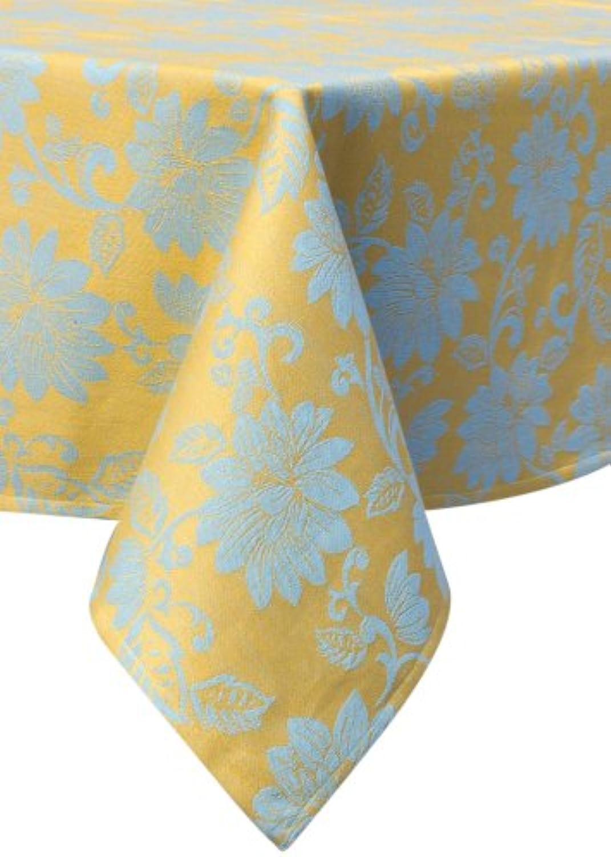 Mahagoni Rechteck Lotus Jacquard Tischdecke, gelb, gelb, gelb, 60x90-Inch B00CRW9OBK 0c483d