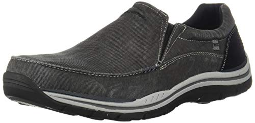 Skechers USA Men's Expected Avillo Relaxed-Fit Slip-On Loafer,Black,12 M US