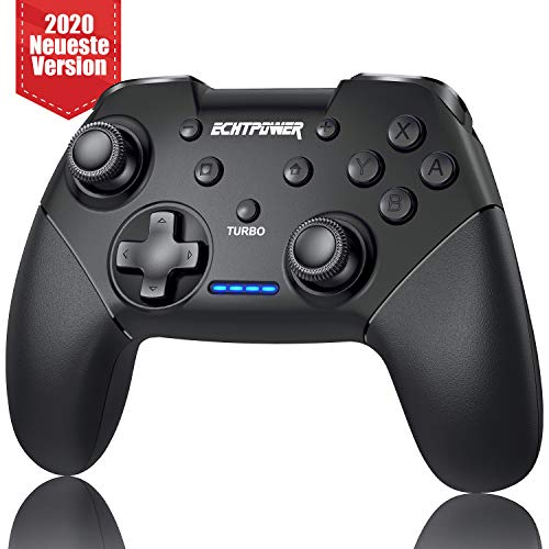 Bluetooth Controller für Nintendo Switch, Wireless Pro Controller für Switch,Switch Lite mit Doppelmotor, Turbo Funktion,Remote Controller Gamepad mit 6 Achsen Gyrosko, schwarz.