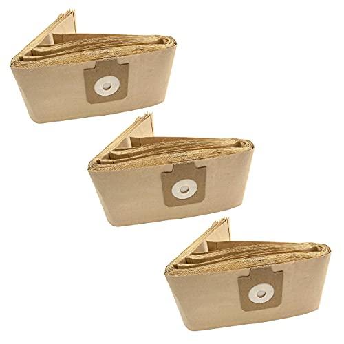 vhbw 30x bolsa compatible con Nilfisk-Alto 115, 130, 135, 140 7015 040, 950, Ergo Clean, Euro aspiradora - papel, color arena