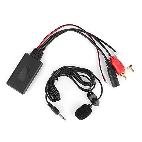 SANON Módulo Aux Bluetooth 2 Adaptador de Cable RCA con Micrófono Manos Libres para Alpine para Pioneer para Sony