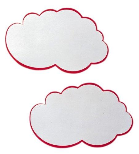 Franken GmbH UMZ W Moderations-Wolken, 25 x 42 cm, 20 Stück, weiß/rot