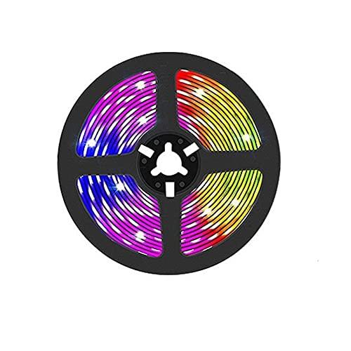 Tira de luz LED USB Bluetooth 5050 SMD DC 5V USB RGB Luces Lámpara LED Flexible Cinta de Cinta RGB TV Adaptador de Cinta de diodo de Escritorio (Color : Non Waterproof, Size : 30M)