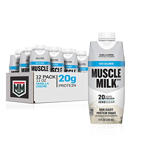 Muscle Milk 100 Calorie Protein Shake, Vanilla Crème, 20g Protein, 11 Fl Oz, 12 Pack