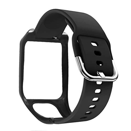 Anti-Scratch Silicone Replacement Wrist Watch Band Bracelet for -Tomtom Adventurer/Runner 2 3/Spark 3 Sport Watch