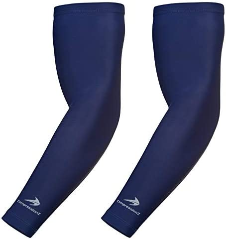 CompressionZ Compression Arm Sleeves for Men Women UV Protection Navy S product image