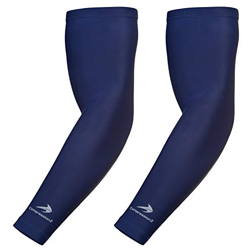 CompressionZ Youth Compression Arm Sleeves (Pair) Boys, Girls, Kids - Sports Sleeves for Basketball, Baseball, Softball, Tennis