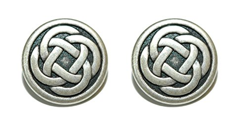 Jazzworks,LLC Silver Tone Round Celtic Knot Cuff Links (088a)