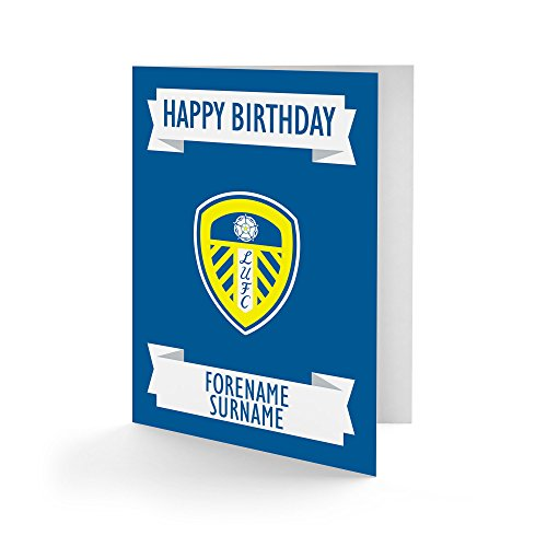 Official Personalised Leeds United FC Crest Birthday Card