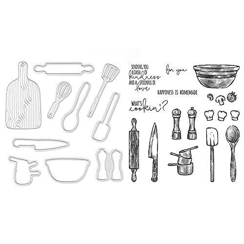 Metall Stanzschablone Schablonen DIY Cutting Dies Scrapbooking mit transparent Siegel Stempelset Prägeschablone Kartenherstellung Deko (23)