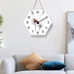 TIANYOU Wall Clock Dandelion Bracket Clock Lanyard Clock Acrylic Silent Wall Clock Living Room Bedrooms Kitchen Bracket Clock 14 Inches No Ticking #5