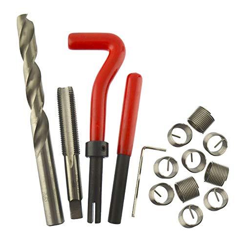 KKmoon 15-tlg M12 x 1.5 Gewindereparatursatz Gewindereparatur Helicoil-kompatibles 12mm beschädigtes Gewinde
