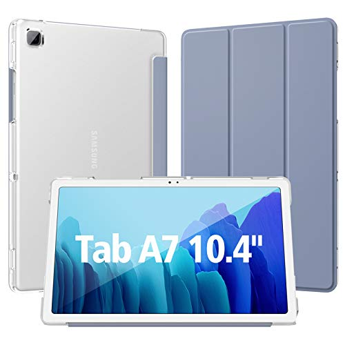 Dadanism Hülle für Samsung Galaxy Tab A7 10,4 Zoll 2020 (SM-T500/T505/T507), Transluzent PC Schutzhülle für Galaxy Tab A7, Samsung Tab A7 Hülle mit Auto Schlaf/Weck - Grau Lila