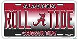 Alabama Roll A Tide Crimson Tide Football Fan License Plate Car Tag Sign