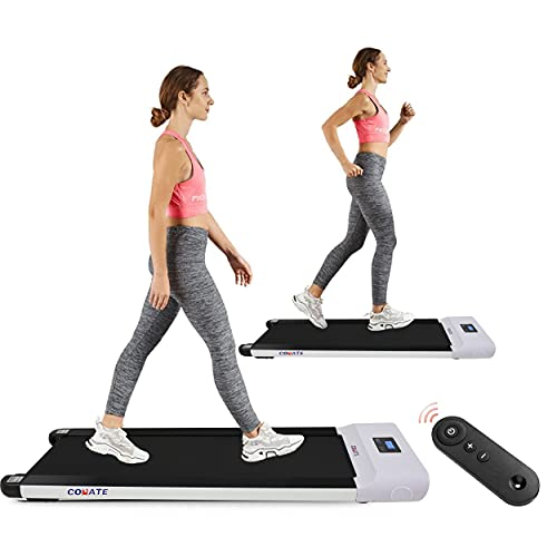 Conate 2 in 1 Under Desk Electric Treadmill Motorized Exercise Machine Walking Machine, Remote Control and LED Display, Walking Jogging Machine for Home/Office Use
