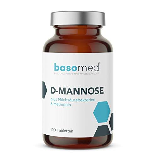 D-Mannose bei Blasenentzündung I Hochdosiert 3000 mg pro Tagesdosis + Milchsäurebakterien + Methionin + Vitamin C I Kein umständliches Pulver (100 Tabletten)