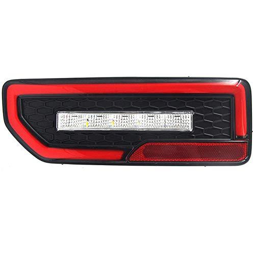 WPFC Dynamische LED-Reflektor Schwanzlampe Rücklicht Rückleuchte Bremslicht Fließende Blinker Licht Für Suzuki Jimny JB64 / JB74 19-20, 2 Stücke,Rot