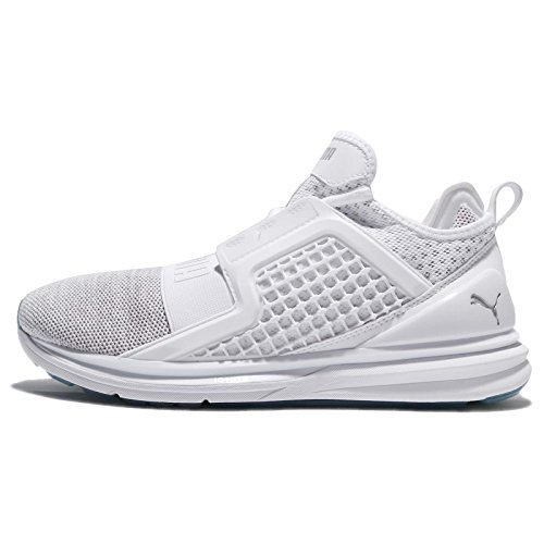 Puma Ignite Limitless Knit, Zapatillas de Cross para Hombre, Blanco (Puma White/Silver), 41 EU