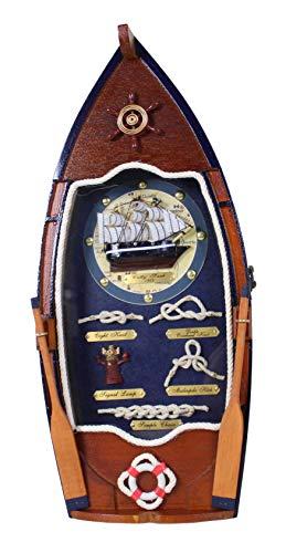 Antik 2000 Schlüsselkasten Schlüsselschrank als Ruderboot mit Knotentafel