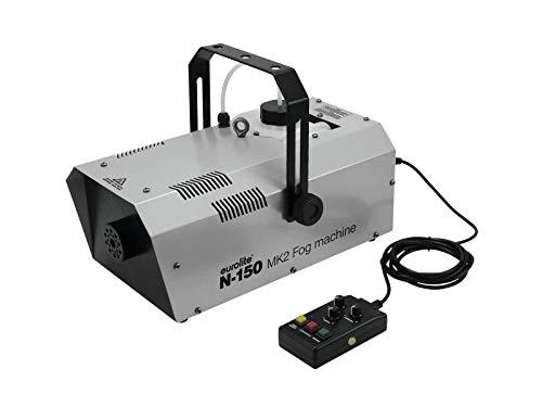 Eurolite N-150 MK2 Nebelmaschine | DMX-steuerbare Nebelmaschine mit 1500-Watt-Leistung | Kompakte Nebelmaschine mit hohem Ausstoßvolumen