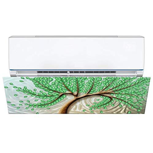 Deflettore per condizionatori d'aria che impedisce il soffiaggio di aria fredda, materiale in poliestere, design artistico, facile da installare, adatto per condizionatori d'aria di 70-120 cm