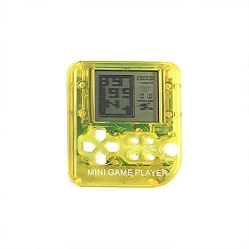 Webla Mini Classico Console Gioco Portatileconsole Di Gioco Portatile con Portachiavi(Giallo)
