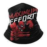 D-eadpool Maximum Effort (4) Neck Warmer Soft Neck Gaiter Scarf Dust Face Mask