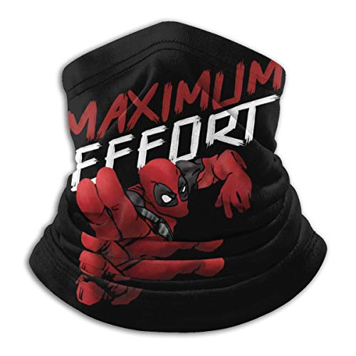 D-eadpool Maximum Effort (4) Neck Warmer Soft Neck Gaiter Scarf Dust Face Mask