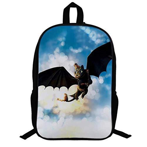 Twhoixi Cómo Entrenar a tu dragón Mochila Escolar Niños Niños Niñas Mochila Escolar Regreso a la Escuela Mochila de Libros