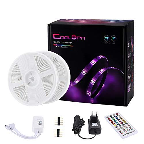 Coolapa Tiras de Luces LED, Cadena de Luces Bluetooth de 10m con Control de Aplicaciones para el...