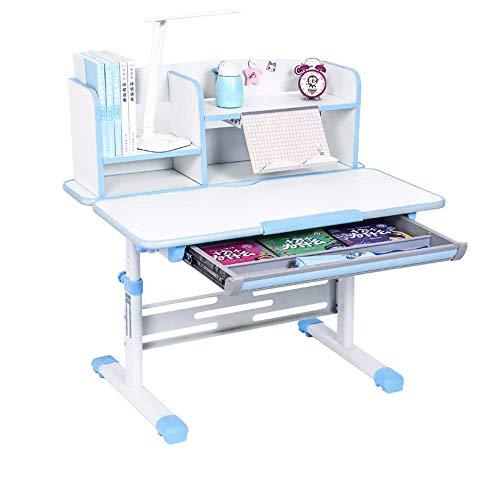 Haushaltsprodukte Korrektur Tisch Hebetisch Stuhl Stuhl Set Kinderheim Kombination Studie Tabelle 2 Farben Optionale Schreibtische (Farbe: Blau)