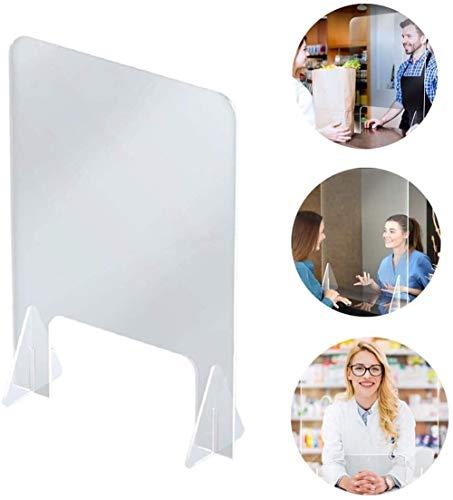 El aislamiento de mesa de acrílico anti-aerosol, plexiglás epidemia de Protección Reflectores for Counter escritorio de oficina y comedores escolares de 24 pulgadas de ancho x...