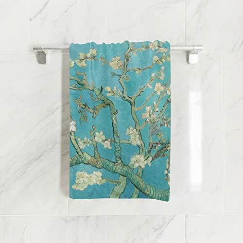 Ahomy Toallas de Mano, 38 cm x 76 cm, de Van Gogh Ramas de árbol de almendras en Flor Toallas Multiusos Extra absorbentes para baño, Mano, Cara, Gimnasio y SPA