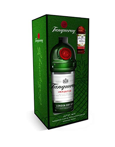 Tanqueray LONDON DRY GIN Imported 47,3% - 700 ml in Giftbox Tanqueray SEVILLA Gin Miniatur 0,05l