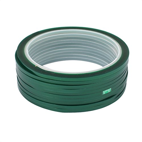Aexit 10 Stücke 3mm x 33 Meter Grünes PET Klebeband Hochtemperaturbeständiges Band für PCB L-öten (6a27cd82094bef52440faa4fabb9fe50)