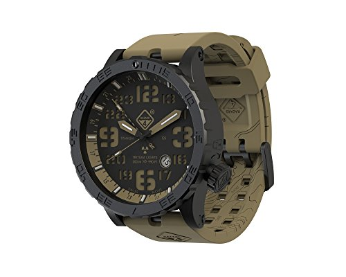 Heavy Water Diver(TM) Tritium Dive-Watch by Hazard 4(R): GMT Earth, BLK PVD, BLK Dial/Earth Graphics - GGYG