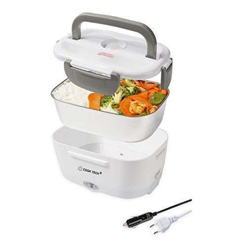 CGGK TECH Lunch Box Chauffante Hermétique 12V 220V Gamelle Chauffante Électrique en Acier Inoxydable de Qualité Alimentaire pour Repas Chaud
