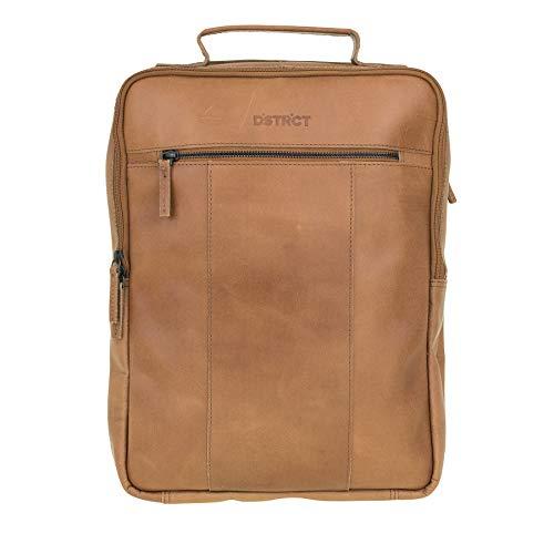 DSTRCT Riverside lederen rugzak - 15,6 inch laptoptas met ritssluiting, cognac (bruin) - 011430.20