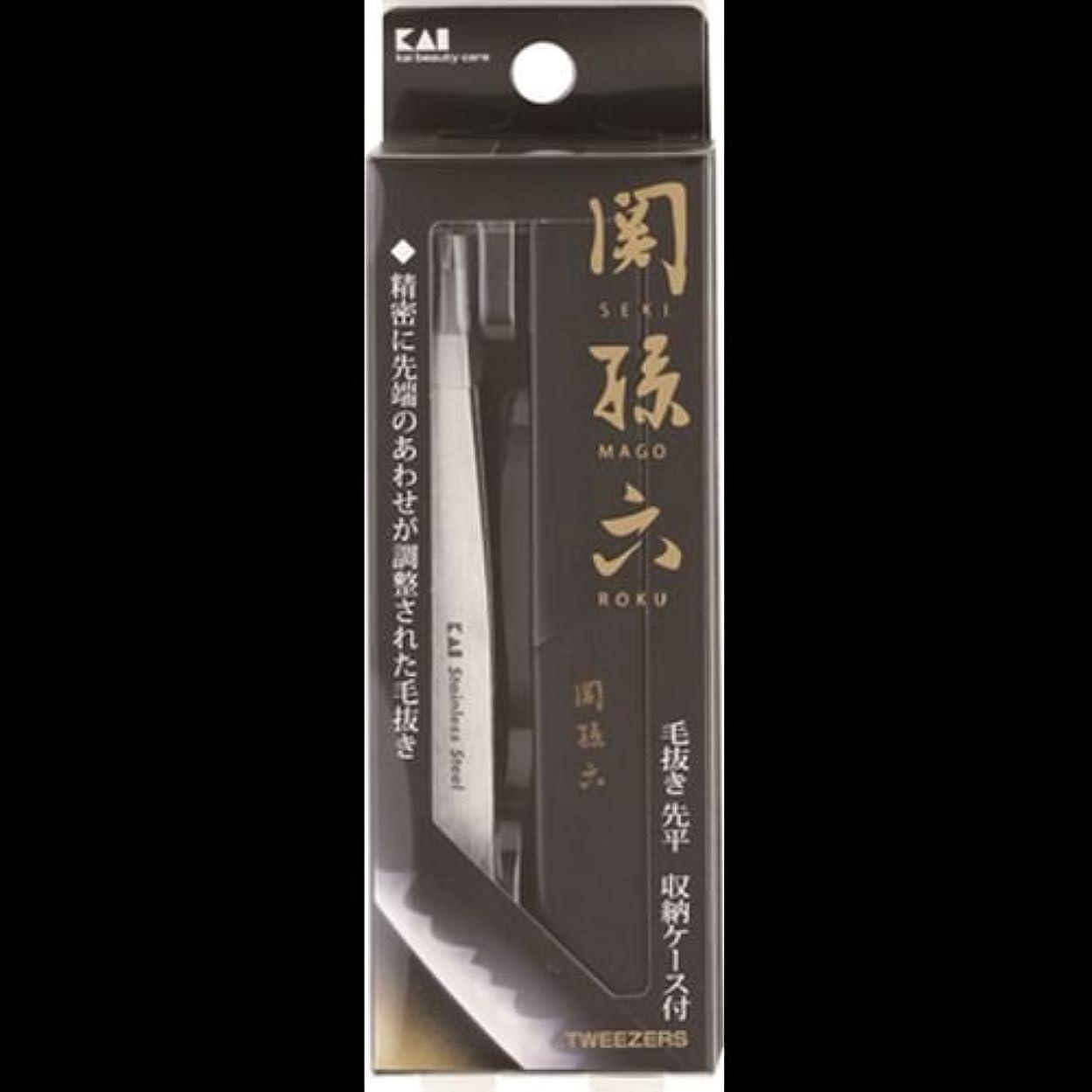 喉頭クリップ風【まとめ買い】関孫六 毛抜き(先平) ×2セット