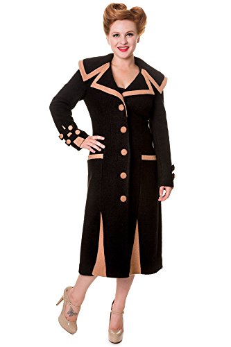 Banned Mantel Long Vintage Coat 1913 Schwarz S