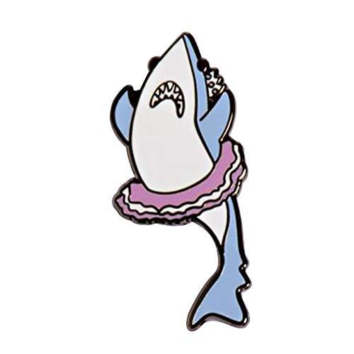 wangk Ballerina Shark Enamel Pin