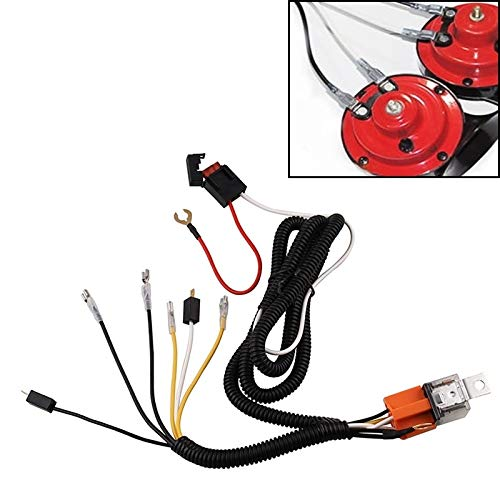 Verlengsnoer Car Horn Modified kabelboom 12V Speaker Harness Relay Kit for Auto Truck Grill beugel Blasting Angle (geen Actual Speaker)
