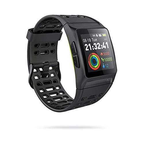 JIEGEGE P1 Smart Watch, Schwimmen GPS Mehrsprachige EKG Sport Pulsuhr Gesundheitsüberwachung, 50m Wasserdicht, 17 Sportmodi, Für Android Und IOS