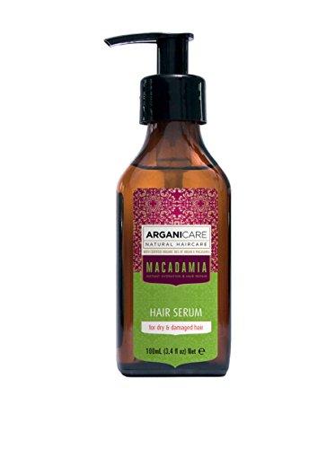Arganicare Macadamia Sérum de cheveux pour cheveux secs et abîmés à l'huile d'argan biologique et à l'huile de macadamia (3,4 liquid ounce) de Arganic