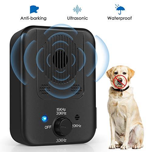 Bark Control Device, 2020 Upgraded Mini Bark Control Device, Outdoor Anti Barking Ultrasonic Dog Bark Control with 3 Ultrasonic Frequency...