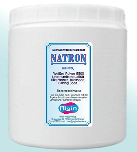 Algin Natron - Bicarbonato di sodio, adatto ad uso alimentare, 1 litro