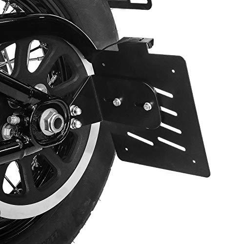 Support de Plaque latéral S pour Harley Fat Boy 18-19 Noir