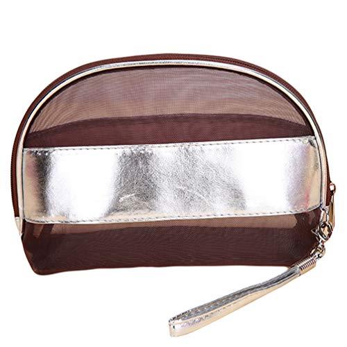 Sentaoa Voyage Trousses de Toilette Pochettes de Maquillage Portable Etanche Cas Cosmétique Sacs Organisateur (23 * 15 * 9cm,Marron)